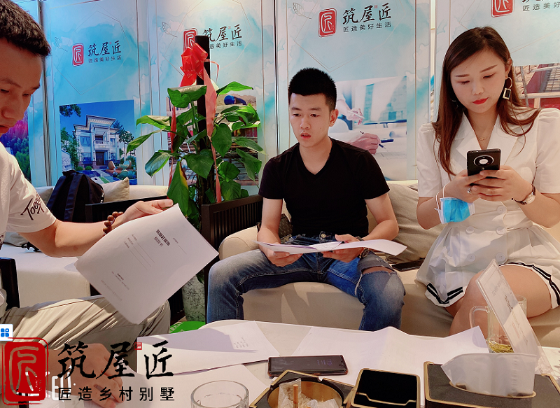 热烈庆祝鄂州尹总成功签约别墅高端定制装修项目!