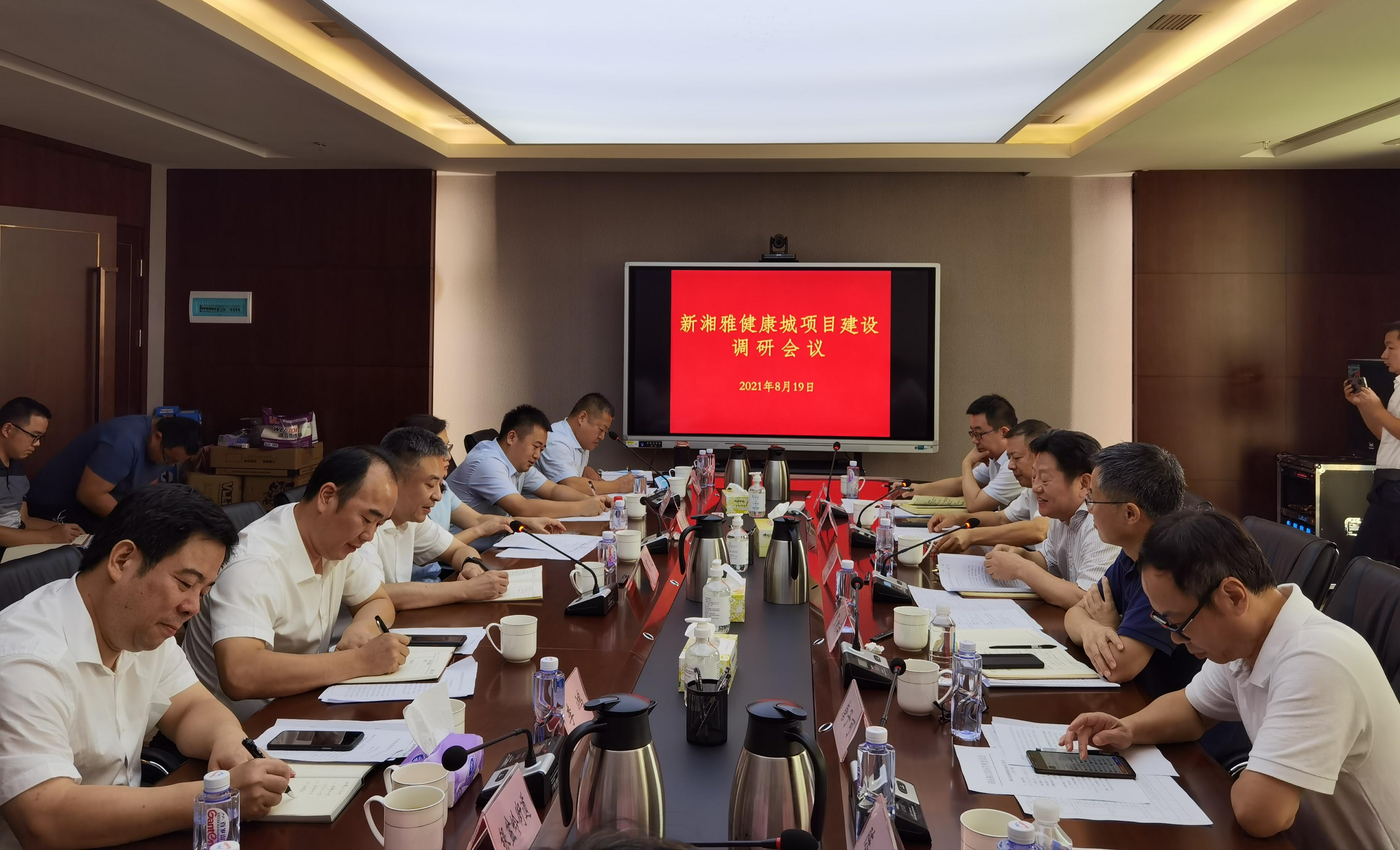 羅社輝帶隊調研新湘雅健康城項目建設工作
