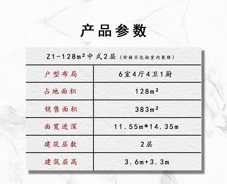 Z1 128平2层中式