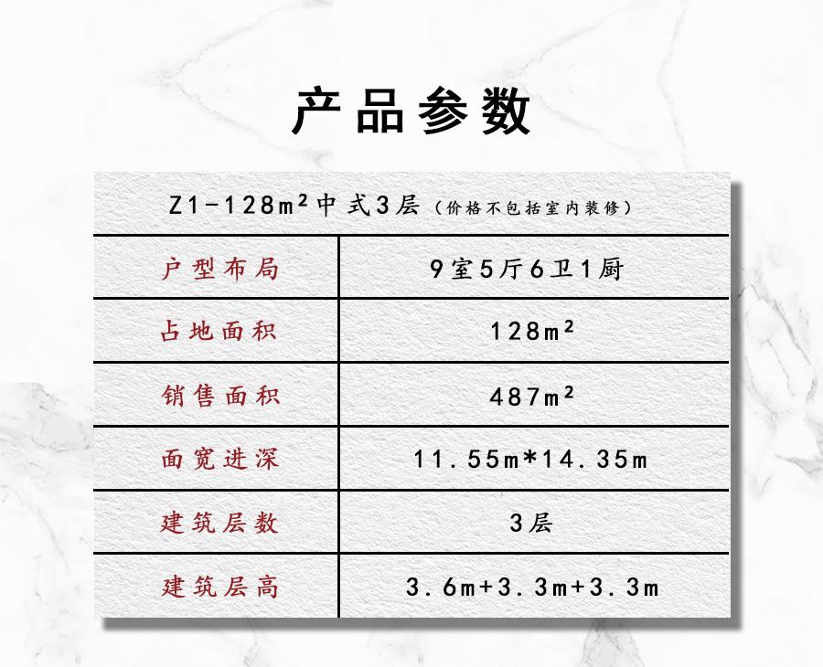 Z1 128平3层中式