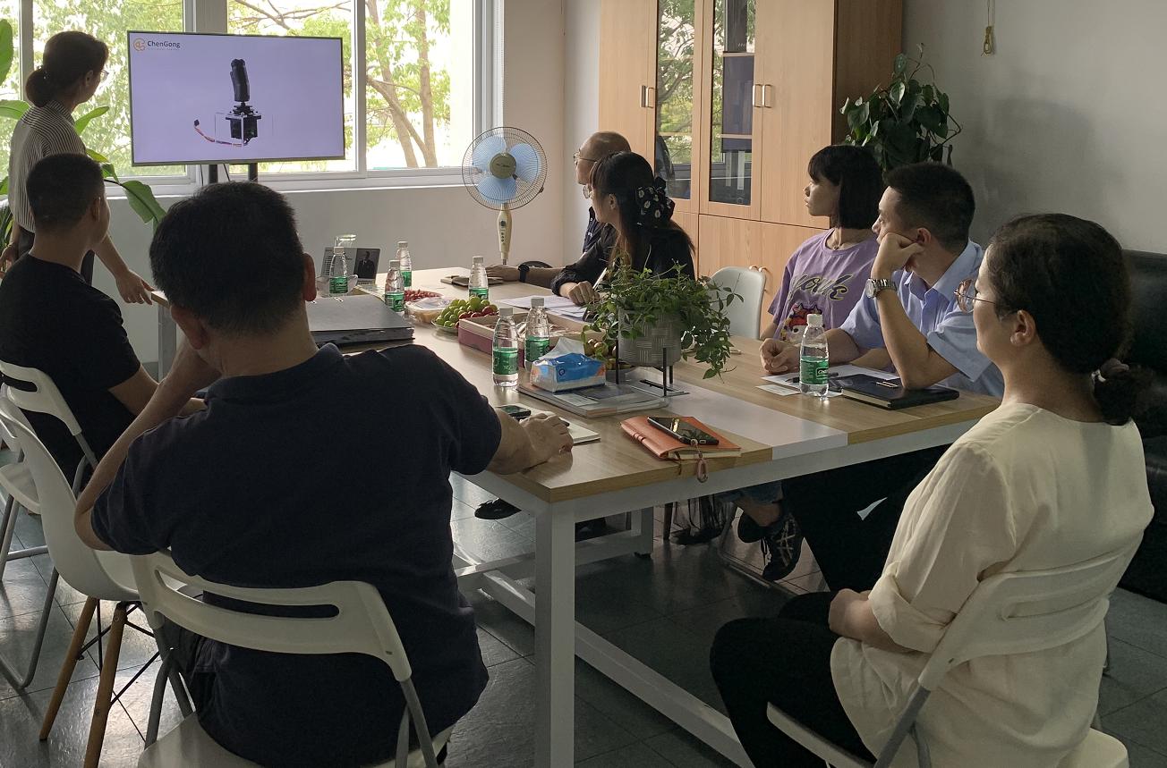 湖南中聯重科智能技術有限公司訪問考察上海陳工電控科技有限公司!