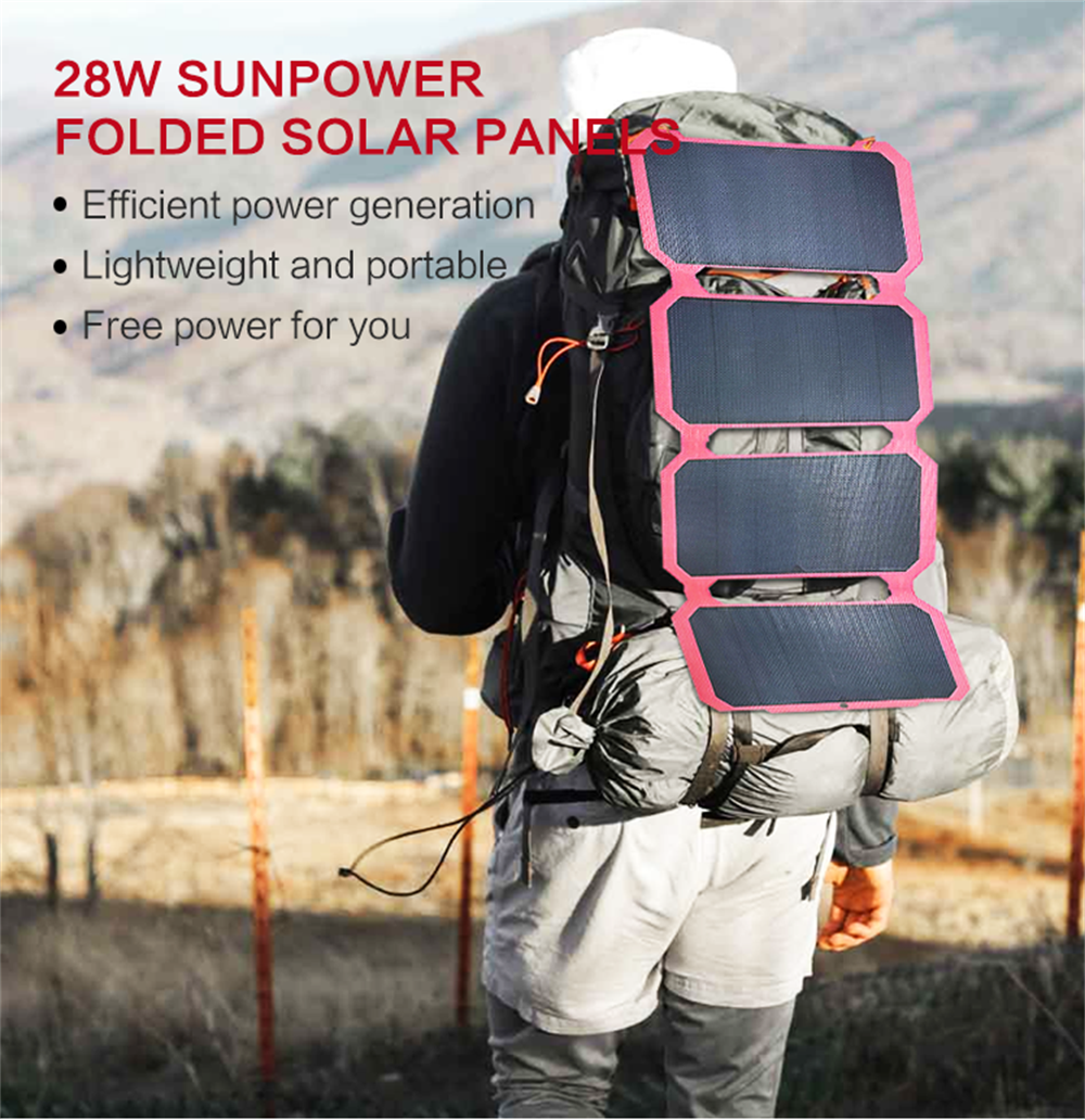 28W Sunpower Folding Solar Panel