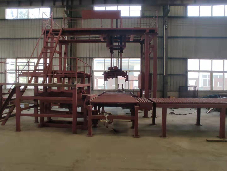 红装码垛打包一体机组装试机