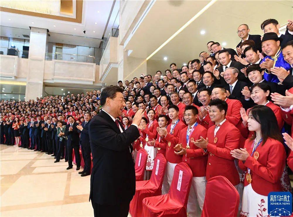 """习近平主席接见全国体育""""双先""""代表 启迪再获国家表彰"""