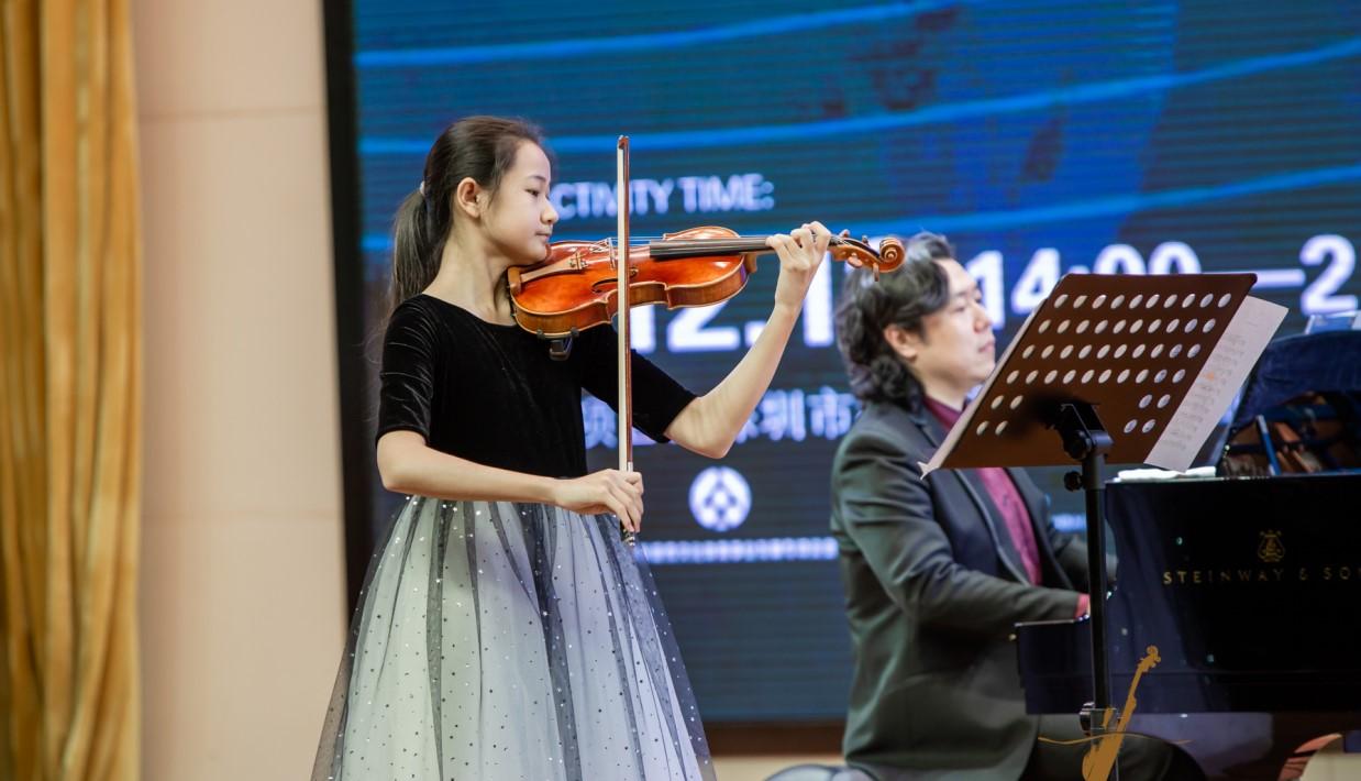 祝贺中央音乐学院附中小提琴学生沈天鋆获得英国新菁英国际音乐比赛第一名