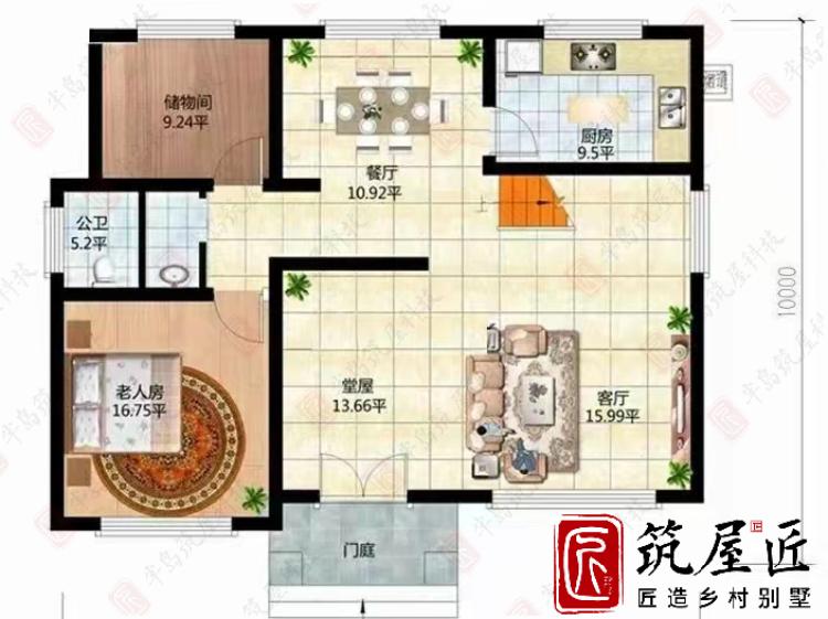 农村自建别墅如何规划户型?这款定制别墅设计理念供参考