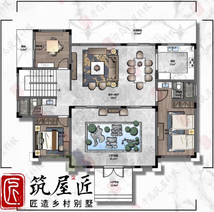 湖北农村自建别墅3款简欧风格户型设计图分享
