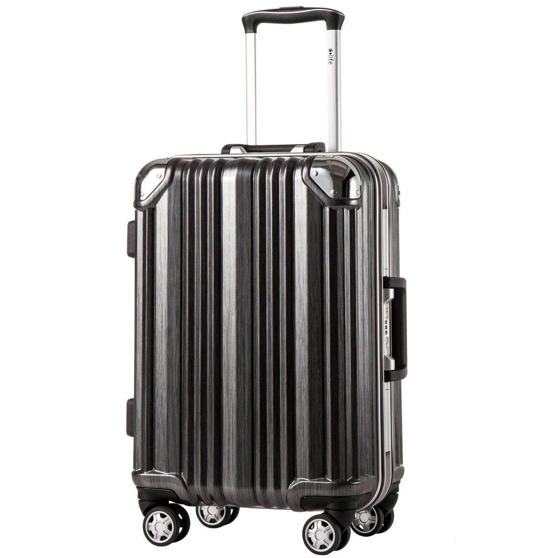 Coolife Luggage Aluminium Frame Suitcase TSA Lock 100% PC 20in 24in 28in