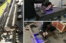 Air conditioning pipeline three-dimensional inspection